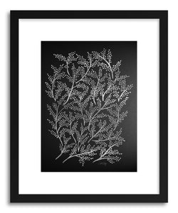 hide - Art print Silver Branches by artist Cat Coquillette in white frame