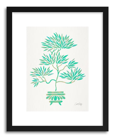 Art print Turquoise Bonsai by artist Cat Coquillette