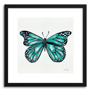 Art print Turquoise Butterfly by artist Cat Coquillette