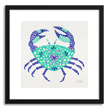 Art print Turquoise Crab by artist Cat Coquillette