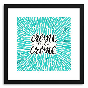 Art print Turquoise Creme DeLa Creme Tote by artist Cat Coquillette