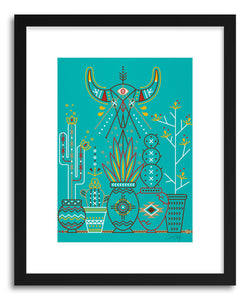 Art print Turquoise Santa Fe Garden by artist Cat Coquillette