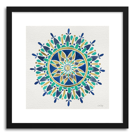 Fine art print Mandala Gold Turquoise by artist Cat Coquillette