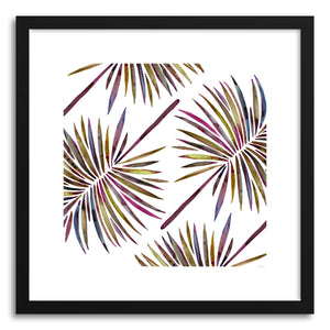 hide - Art print Vintage Fan Palm Pattern by artist Cat Coquillette in natural wood frame