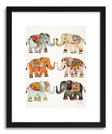Art print Warm Elephants by artist Cat Coquillette