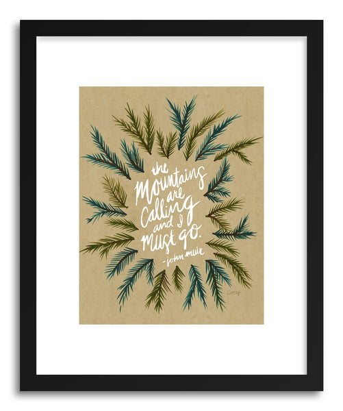 Fine art print Mountains Kraftwhite by artist Cat Coquillette