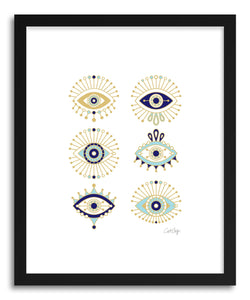 Art print White Evil Eyes by artist Cat Coquillette