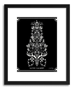 hide - Art print White La Mort by artist Cat Coquillette in white frame