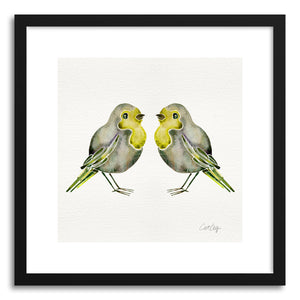 Art print Yellow Birds by artist Cat Coquillette
