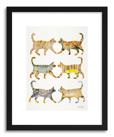Art print Yellow Cat Collection by artist Cat Coquillette