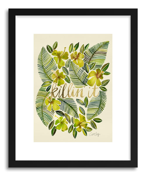 Art print Yellow Killin It by artist Cat Coquillette