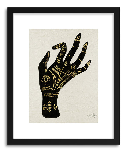 Fine art print Palmistry Black by artist Cat Coquillette