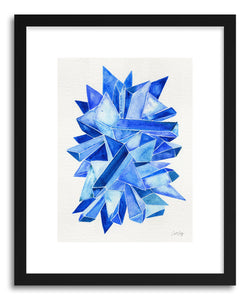 hide - Art print Sapphire by artist Cat Coquillette in natural wood frame