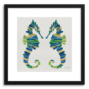 hide - Art print Seahorse Multi by artist Cat Coquillette in white frame