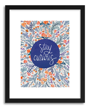 Fine art print Stay Curious Navy Coral by artist Cat Coquillette