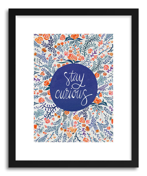 hide - Fine art print Stay Curious Navy Coral by artist Cat Coquillette