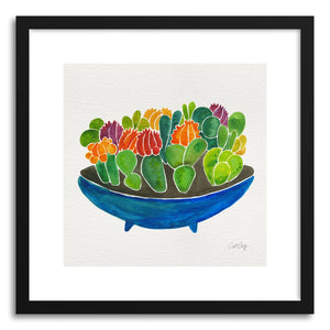 hide - Art print Succulents by artist Cat Coquillette in white frame