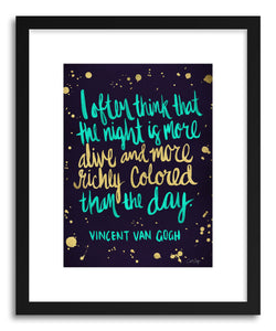 Fine art print Van Gogh Blue by artist Cat Coquillette