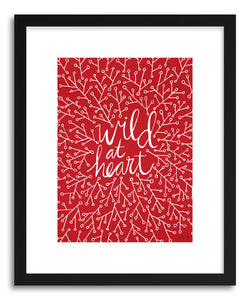 hide - Art print Wildat Heart Red by artist Cat Coquillette in white frame