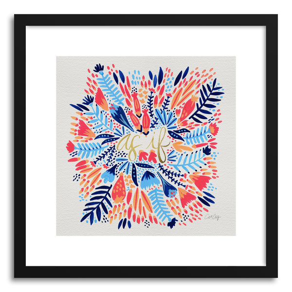 Fine art print As If Multi White by artist Cat Coquillette