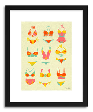 Art print Bikini Yellow by artist Cat Coquillette