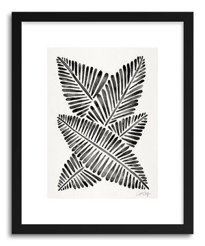 Art print Black Banana Leaves by artist Cat Coquillette