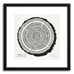 hide - Art print Black Douglas by artist Cat Coquillette in white frame