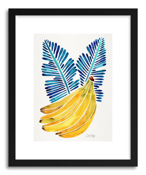 Art print Blue Bananas by artist Cat Coquillette