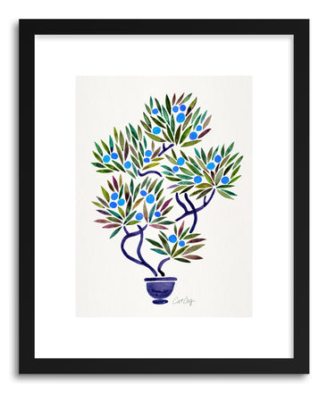 Art print Blue Bonsai Orange by artist Cat Coquillette