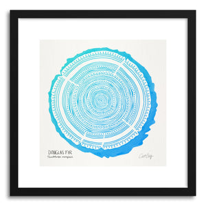 hide - Art print Blue Douglas by artist Cat Coquillette in white frame