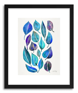 Art print Blue Leaves by artist Cat Coquillette