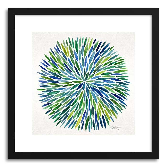 Art print Blue Watercolor Burst by artist Cat Coquillette
