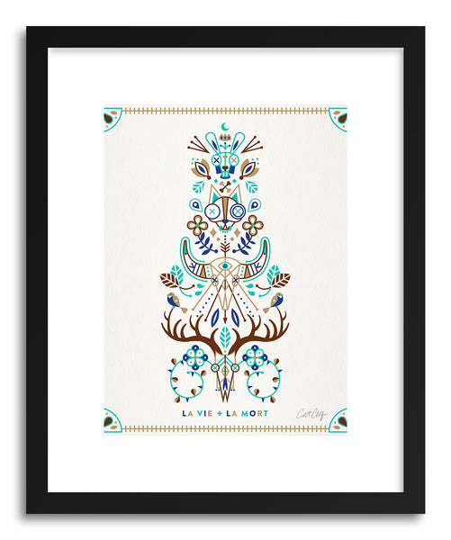Art print Brown Turquoise La Mort by artist Cat Coquillette