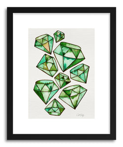 Art print Emeralds Tattoos by artist Cat Coquillette