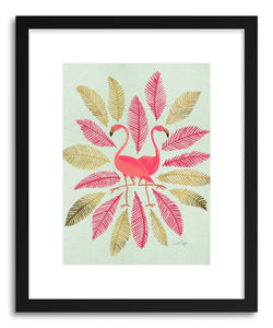 Art print Flamingos Pink Gold by artist Cat Coquillette