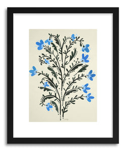 hide - Art print Flowers by artist Cat Coquillette in natural wood frame