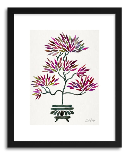 Art print Fuchsia Bonsai by artist Cat Coquillette