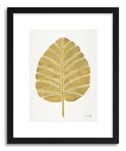 Art print Gold Alocasia by artist Cat Coquillette