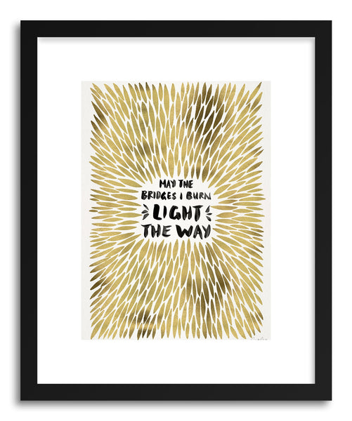 Art print Gold Bridges Burn Burst by artist Cat Coquillette