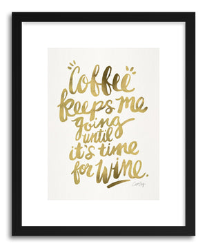 Art print Gold Coffee Wine by artist Cat Coquillette