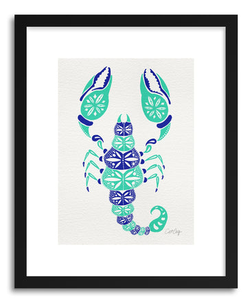 Fine art print Blue Turquoise Scorpion by artist Cat Coquillette
