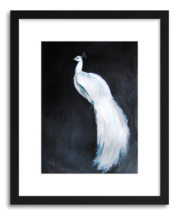 Fine art print White Peacock No.2 by artist Christine Lindstorm