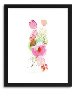 hide - Art print Floral Band by artist Christine Lindstorm in natural wood frame