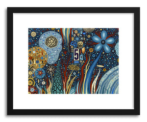 hide - Art print Starlight by artist Colin Johnson in natural wood frame