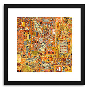 hide - Art print The Golding Time by artist Colin Johnson in white frame