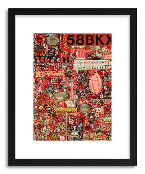 Fine art print Big Numbers Heart And Teeth by artist Colin Johnson