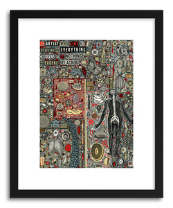 hide - Art print Everything And Nothing by artist Colin Johnson on fine art paper