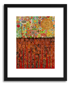 hide - Art print Percolations by artist Colin Johnson in white frame
