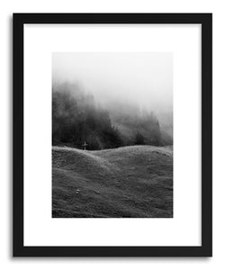 hide - Art print Fading Faith Black by artist Daniel Coulmann in natural wood frame