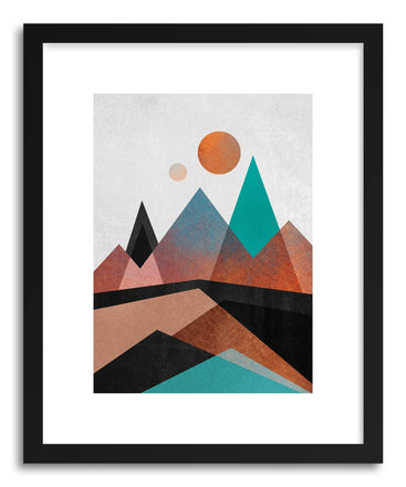 Fine art print Copper Mountains by artist Elisabeth Fredriksson